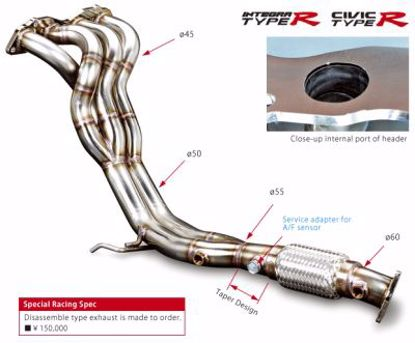 Picture of Toda Racing Exhaust Manifold Civic Type R EP3 Integra Type R DC5