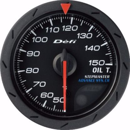 Picture of Defi Advance CR Oil Temp Gauge Black Face 60mm