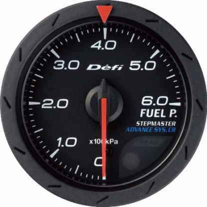 Picture of Defi Advance CR Fuel Pressure Gauge Black Face 60mm