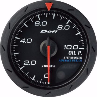 Picture of Defi Advance CR Oil Pressure Gauge Black Face 60mm