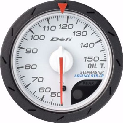Picture of Defi Advance CR Oil Temp Gauge White Face 52mm