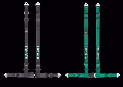 """Picture of Takata Drift III 4 Point Harness with ASM SNAP-ON (3"""" Shoulder / 2"""" Lap pull up ECE Approved/Street Legal) GREEN or BLACK"""