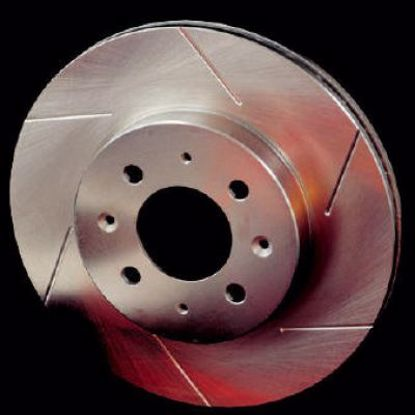 Picture of Stoptech Powerslot Grooved Performance Discs Civic DelSol 92 to 00 OE 242mm FRONT