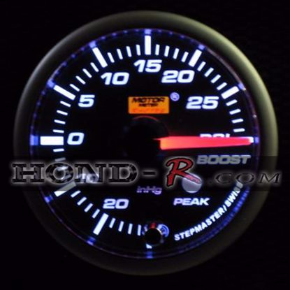 Picture of Motor Meter Racing Turbo/Boost Gauge (psi) 52mm Amber/White