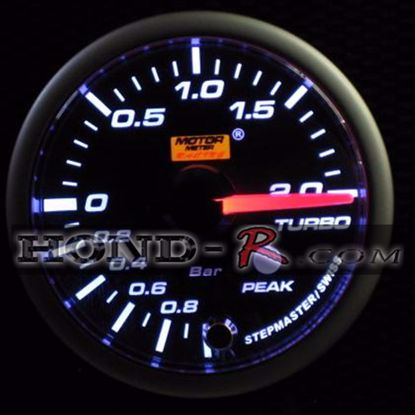 Picture of Motor Meter Racing Turbo/Boost Gauge (bar) 52mm Amber/White