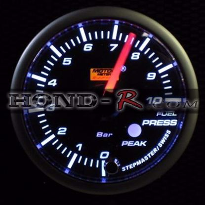 Picture of Motor Meter Racing Fuel Pressure Gauge (bar) 52mm Amber/White