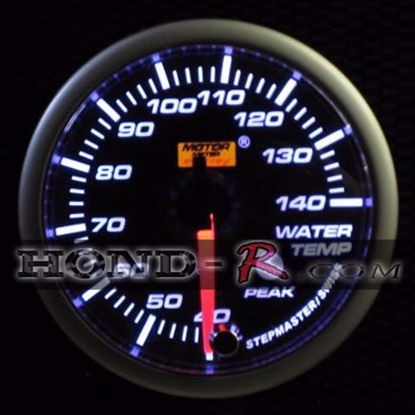 Picture of Motor Meter Racing Water Temperature Gauge (°C) 52mm Amber/White