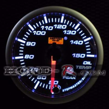 Picture of Motor Meter Racing Oil Temperature Gauge (°C) 52mm Amber/White