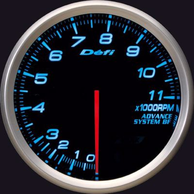 Picture of Defi Advance BF Tacho/REV 0-11,000 RPM Gauge 80mm Blue Illumination