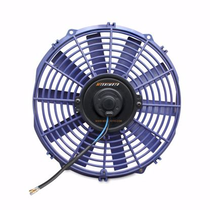 "Picture of Mishimoto Universal Slim 12"" Pusher/Puller Cooling Fan Blue"