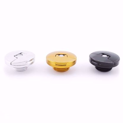 Picture of Hybrid Racing Easy Off Slim Oil Cap Gold/Black