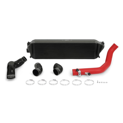 Picture of Mishimoto Honda Civic Type R Performance Intercooler Kit 2017+ Black Intercooler, red piping