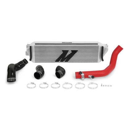 Picture of Mishimoto Honda Civic Type R Performance Intercooler Kit 2017+, silver Intercooler, red piping