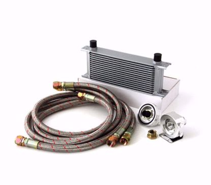 Picture of M2  REMOTE OIL COOLER KIT 15 ROW BRAIDED LINES AND STEEL CUPLINGS