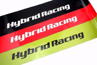 Picture of HYBRID RACING TRIBUTE WINDSHIELD SUNSTRIP - GREEN/BLACK